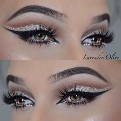 Glamour with glitter! @lavender.olive | #makeup