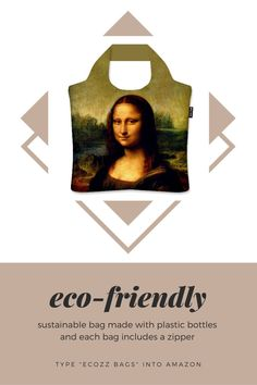 Beautifully designed eco-friendly bag made from plastic bottles.  #earthday #ecofriendly #econconscious #zipperbag #bagwithzipper #zipperbags #reusablebag #reusablebags #foldablebag #foldablebags