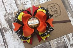 Baby's first Thanksgiving Turkey Hair Bo.w Headband , My Thanksgiving , Baby's First Turkey Day , Available as Hair Bow or Headband Babys First Thanksgiving, Thanksgiving Hair Bows, Christmas Hair Bows, Thanksgiving Turkey, Boutique Hair Bows, Green Hair, Little Princess, Fourth Of July, Grosgrain