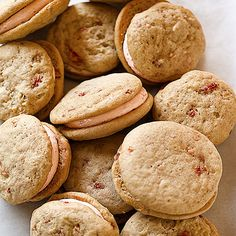 Recipe for Strawberry Whoopie Pies, as seen in the February 2009 issue of O, The Oprah Magazine.