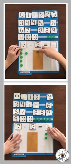 Introduce simple subtraction problems using numbers up to 10 using this interactive file folder activity, giving students a multi-sensory approach to learning. This activity is perfect for new and struggling learners. You can use the file folder