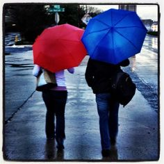 Just two friends at rainy SXSW - It's a great pic let's be honest here :)
