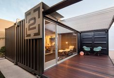 shipping container house tron