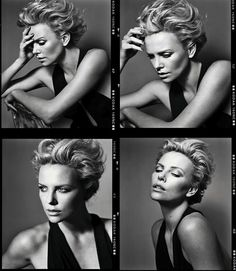 Charlize Theron photographed by Vincent Peters for the July 2012 issue of Marie Claire France. Charlize Theron Hair, Marie Claire France, Color Rubio, Atomic Blonde, Female Portrait, Short Hair Cuts, New Hair, Beautiful People, Beautiful Women
