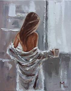 "Buy "" THANKS FOR COFFEE … "" original painting Summer window spring palette knife GIFT, Oil painting by Monika Luniak on Artfinder. Discover thousands of other original paintings, prints, sculptures and photography from independent artists. Sexy Painting, Painting Of Girl, Paintings For Sale, Original Paintings, Famous Artists Paintings, Oil Paintings, Art Sketches, Art Drawings, Erotic Art"