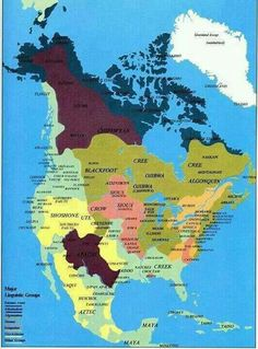 Native American tribal areas in North America