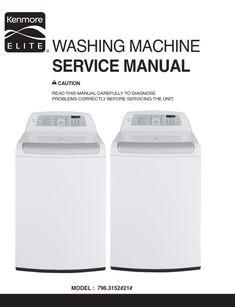Kenmore elite oasis washer service manual