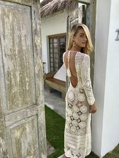 A personal favourite from my Etsy shop https://www.etsy.com/listing/531999777/sexy-off-white-hand-made-crochet-dress