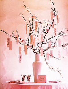 Pink party ideas/inspiration: wishing tree feature www.partyfrosting.com