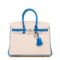 068d86180d Hermes HSS Blue Hydra And Craie Swift Birkin 25cm with Brushed Palladium  Hardware- Special Order