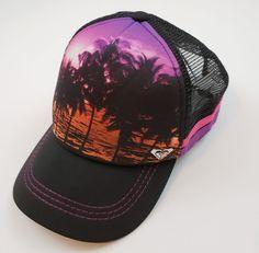 e98e08a1078 Roxy SnapBack Mesh Hat Cap Summer Beach Island Print Pink  ROXY  BaseballCap