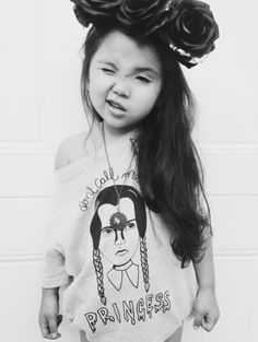 "Image of PRE-ORDER toddler t-shirt ""don't call me princess"" wednesday addams likelybabystory"