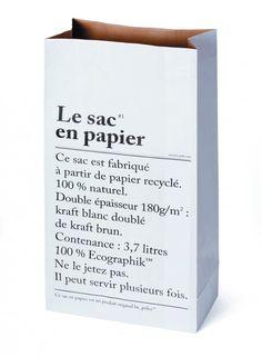 """Paperbag """"Le sac en papier"""""""