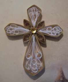 quilled paper cross
