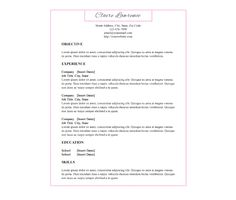 Download this Pink Border Resume Template and other free printables from MyScrapNook.com