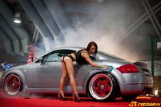 Hot Audi TT. (By the way, I found this great new car wash place..........!).