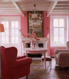 perfect pink sitting room walls!