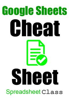 If you want to learn all of the most important Google Sheets formulas quickly, and be able to keep them all in one easy place, then this Google spreadsheet cheat sheet is the perfect thing to have. It has tons of super useful spreadsheet functions, and lots of other really helpful spreadsheet stuff too like shortcuts and operators. - Google Sheets tips | SpreadsheetClass.com Google Training, Google Tricks, 6th Grade Reading, Technology Hacks, Secret To Success, Google Classroom, Cheat Sheets, Computer, Cheating