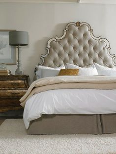 luxury french button tufted beds | tufted glamour the tufted bed from hooker furniture s new sanctuary ...