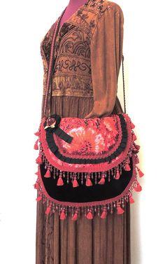 Shabby Hippie bag Romantic bag Gypsy bag by allthingsoldarenew