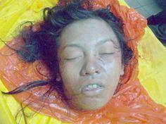 Страшные фото расчленения молодой девушки, найденной в сумке. Жуть.
