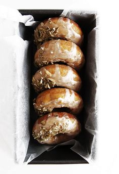 Baked Pumpkin Donuts - Baked Pumpkin Donuts coated in a thin glaze and sprinkled with pepitas. | The Fauxmartha