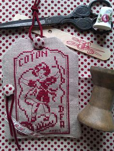 Embroidery cotton label