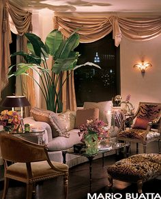 mario buatta, interior design, living rooms, architectural digest, mariah carey, hous, homes, live room, living room furniture