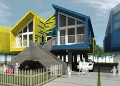 "Brad Pitt's ""Make It Right"" Unveils New Duplex Designs"