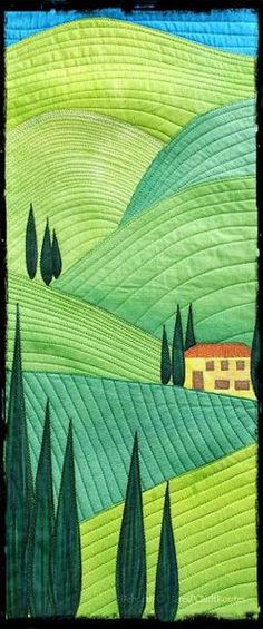 House in the hills. Quilt Routes