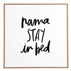 Deny Designs Namastay In Bed Framed Wall Art (€93) ❤ liked on Polyvore featuring home, home decor, wall art, white, deny designs home accessories, white framed wall art, deny designs, bamboo home decor and white wall art