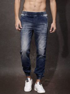 Buy RDSTR Blue Washed Jogger Fit Mid-Rise Jogger Jeans online in India at best price.A pair of blue mid-rise jogger jeans, lightly faded, has whiskers and chevrons, a mock fly, Summer Fashion Trends, Fashion Essentials, Men's Collection, Handsome Boys, Joggers, Mom Jeans, Mens Fashion, Stuff To Buy, Men's Clothing