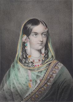 Zinat Mahal Begum Sahiba, queen of Bahadur Shah Zafar Mughal Miniature Paintings, Mughal Paintings, Indian Paintings, Indian Illustration, Wedding Illustration, Historical Art, Historical Pictures, Rare Pictures, Vintage Pictures