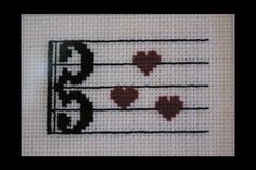 Alto Clef Music Love PDF Cross Stitch by BlueTopazStitchery