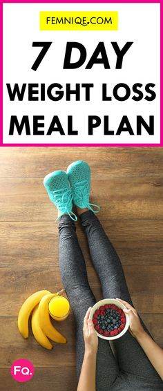 Easy weekly meal planner for weight loss