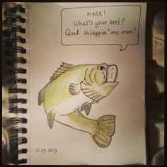 #bass #fish # watercolour #pencil #sketch #illustration