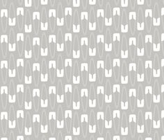 Safety First: white on gray fabric by nadiahassan on Spoonflower - custom fabric