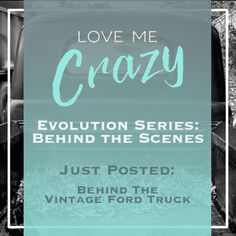 Want to know the whats and what nots of the contemporary romance Love Me Crazy by Camden Leigh? Access Week 3 of the Evolution Series: Behind the Scenes of Love Me Crazy and read why a Ford Vintage Truck makes it into the story. The series contains never before seen cut scenes, character studies and why certain elements were chosen for Cassidy & Quinn's new adult southern love story. This book is available for download at Amazon http://amzn.to/2d29glZ  Available on audible.