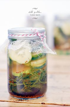 Homemade Dill Pickles Recipe, Three Ways | lark&linen #canning #pickling #easy
