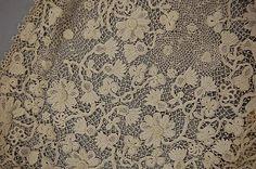irish crochet | An Irish crochet lace coat, circa 1912, full length, with full sleeves ...