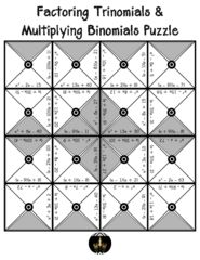 Distributive Property and Combining Like Terms  Puzzle from Under the Crystal Chandelier on TeachersNotebook.com (3 pages)