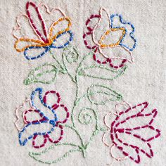 Crewel Embroidery Tutorial Running Stitche Embroidery - Learn how to do hand embroidery Stitches step by step. Easy to learn Embroidery flower designs, borders, back Stitch, stem stitch and more for beginners Embroidery Designs, Embroidery Stitches Tutorial, Crewel Embroidery Kits, Hungarian Embroidery, Embroidery Patterns Free, Learn Embroidery, Embroidery Techniques, Ribbon Embroidery, Embroidery Supplies