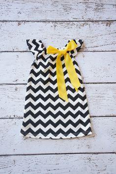Chevron+Dress+black+chevron+dress+Baby+Dress++by+PoshPeanutKids,+$20.00