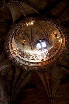 gothic architecture  gorgeous masonry-work, lighting, and the adventure of such an open vista upwards  — Owlbird, refWrite