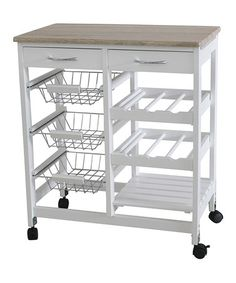 Three-Drawer Kitchen Cart #zulily #zulilyfinds