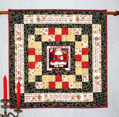 Christmas Wall Hanging Quilted Table Topper by RedNeedleQuilts Christmas Store, Christmas In July, Xmas, Winter Decorations, Christmas Decorations For The Home, Christmas Wall Hangings, Quilted Table Toppers, Quilting Thread, Winter Quilts