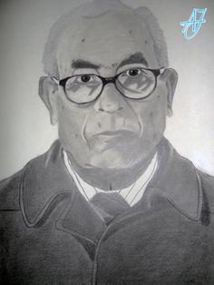 #AJ_ Mi primer retrato, al que le tengo un cariño especial por ser el primero y por el modelo que lo hizo posible. Mi abuelo, mi mejor modelo.  #Arte #Pintura #Dibujo en #NavasdeSanJuan, #Jaén por @AmparoJurado85 #Docente2.0 #aj_informa