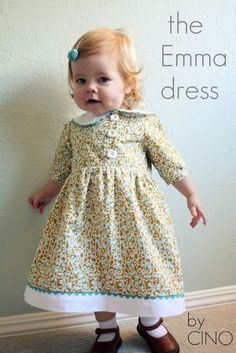 8 Wonderfully Warm Winter Dresses to Sew for Girls Winter is coming (for those in the Northern Hemis Little Dresses, Little Girl Dresses, Girls Dresses, Dress Sewing Patterns, Clothing Patterns, Pattern Dress, Diy Vetement, Little Doll, Winter Dresses