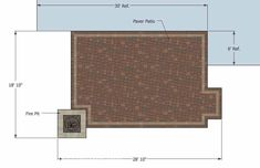 Our Rectangular Patio Design with Fire Pit is simple to build and will create a colorful and fun outdoor living space. How-to's and itemized material list.