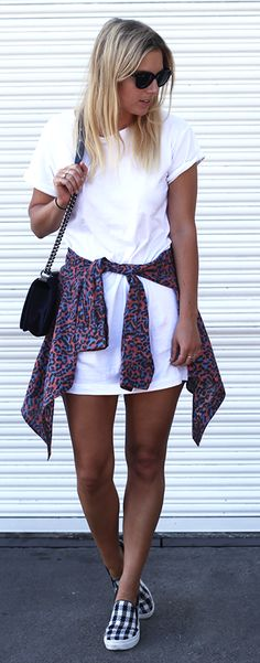 Animal Print On White Summer Style